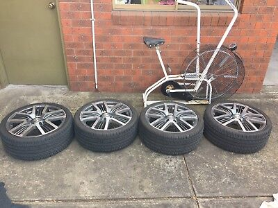 """19 """" Vedetta wheels 5x114.3 tires 90% tread suit toyota,ford,nissan,mazda"""