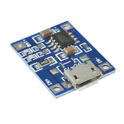 2/5/10PCS 5V Micro USB 1A 18650 Lithium Battery Charging Board Module TP4056
