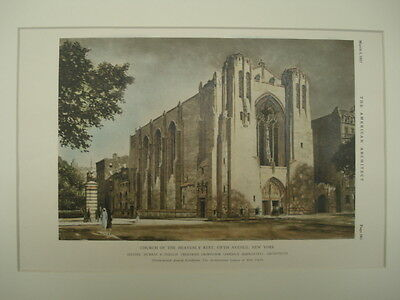 Church of the Heavenly Rest, Fifth Avenue, New York, NY, 1927, Original Plan