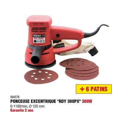 Ponceuse excentrique 380W Ø 125mm  - RONDY FRANCE