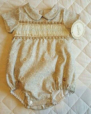 Summer sale! Traditional Spanish Quinper boys summer romper, 3M & 12M only!