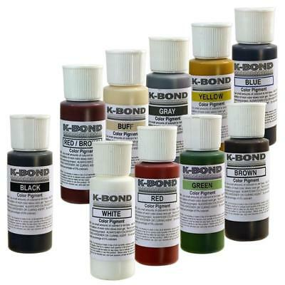 K-Bond Granite Color Pigments 2oz Green Gray Brown White Buff Yellow Blue Black