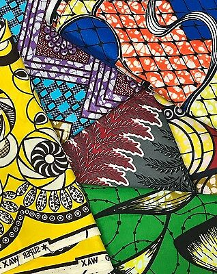 Kamto Collections Vibrant Colored African Ankara Head Wraps 70x22in, 100% Cotton