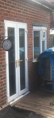 Upvc french patio doors picclick uk for Brown upvc patio doors