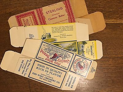 Lot Of Three Vintage Butter Boxes