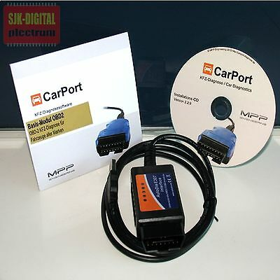 *Universal KFZ Diagnosegerät Diagnose-Interface + Carport OBD2 Software Lizenz*