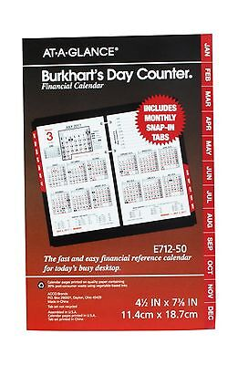 AT-A-GLANCE Burkhart's Day Counter Daily Desk Calendar Refill 2017 4-1/2 x 7-...