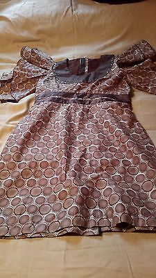 African Cotton  Print  Summer  Dress  UK Size 16