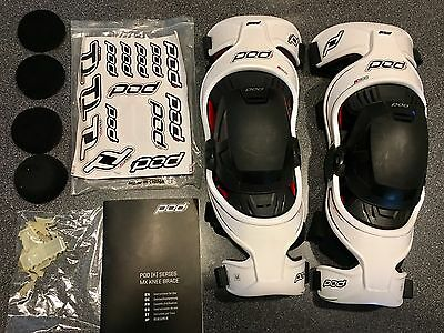 Pod K300 Knee Braces- Large, Pair, Like New, K700 Motocross MX Safety Protection