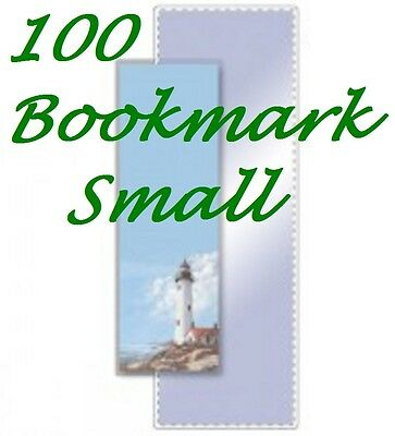 BOOKMARK SMALL 100 Pack Laminating,Laminator Pouch Sheets  5 Mil. 2-1/8 x 6