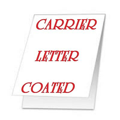 2 Carrier Sleeve's For Laminating Pouches LETTER SIZE  9-1/4 x 11-5/8 .