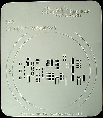 "Gobo template pattern - GAM 565 ""Old City Windows"""