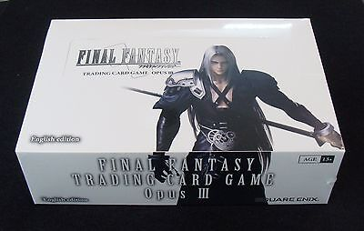 Final Fantasy Trading Card Game Opus III 3 Brand New Factory Sealed Booster Box