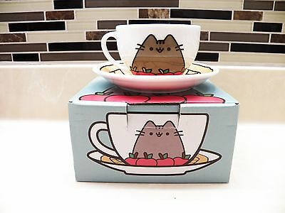 2016 Pusheen Cat Box Fall Subscription Teacup Cup Tea Mug Saucer New In Box
