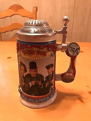 3 Stooges, Stoneware and Pewter Collectors Stein, LOOK!