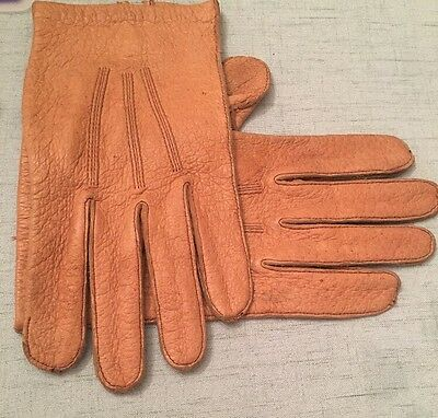 RARE Vintage Mark Cross  9.5 Pigskin GLOVES