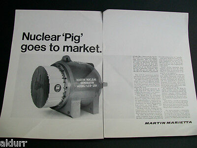 Lockheed Pig Nuclear  Radioisotope Generator 2 Page Print Ad