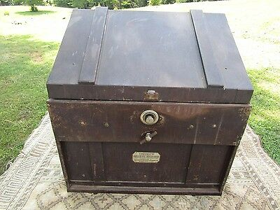 Antique Security Account Register Safe/Steampunk Bar/Home Decor/Man Cave