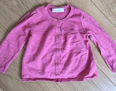The Little White Company Baby Girl Lightweight Knitted Cardigan Size 6-9 M