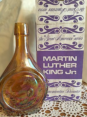 """ Martin Luther King Jr.  "" Commemorative Decanter  Wheaton Nuline"
