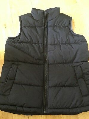 Old Navy Boys Black Puffer Vest Size L 10/12 NWOT