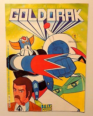 Goldorak N°37 + Poster Ed Tele Guide Dl 1978 Nouveau 16 Pages En Plus