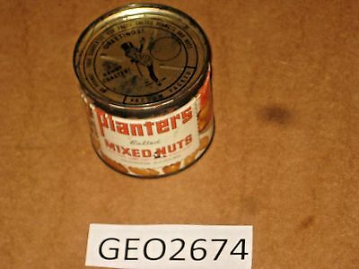 PLANTERS SALTED MIXED NUTS TIN CAN   [GEO2674bt]