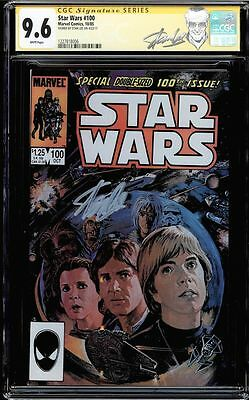 Star Wars #100 Cgc 9.6 White Pages Ss Stan Lee Signed New Label Cgc #1227818006