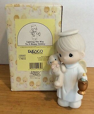 Precious Moments Figurine Lighting The Way To A Happy Holiday 129267 1994