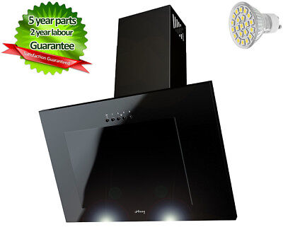 MAAN Cooker Hood Vertical 3S 60cm Black glass! LED! THIS WEEK Special!