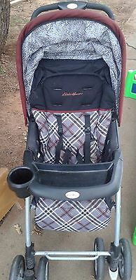 Ed Bauer Stand Alone Black Standard Single Seat Stroller
