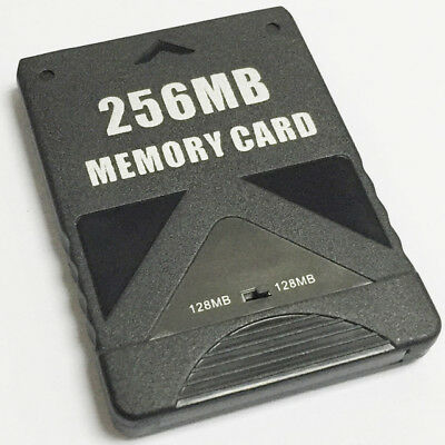 Memory card for PS2 256MB PS2 Slim PlayStation 2 Sony consoles ZedLabz – black