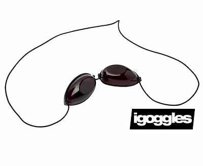 iGOGGLES - Elastic Sunbed Goggles - Eye Protection Goggles For Tanning