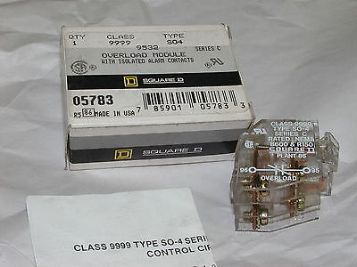 Square D 9999-SO4 Overload Module 9999-S04 Series C w/ isolated alarm contacts