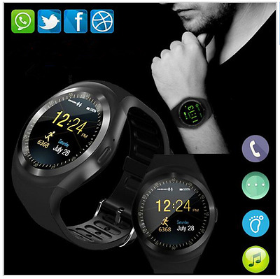 Smartch Y1 Smart Watch Round Nano SIM &TF Card With Whatsapp Facebook Android