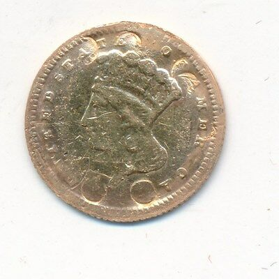 1868 Gold Dollar $1 U.s. Gold Coin-Circulated-Only 10,500 Minted! Ships Free!