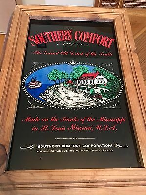 Vintage SOUTHERN COMFORT Bar SIGN Mirrored - 18.5(HT)x12.5(W)