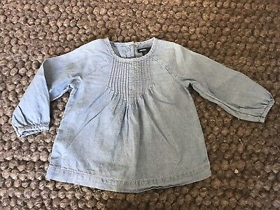 Gap Baby Girls Chambray Top Size 2 * Excellent Condition *