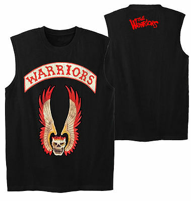 The Warriors - Movie (2 Sided) Sleeveless Men's Shirt, Large (L) Slim Fit