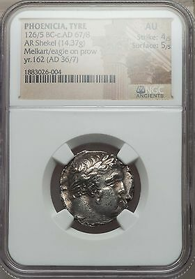 Genuine Shekel of Tyre Biblical 30 Pieces of Silver Rare and Beautiful NGC AU