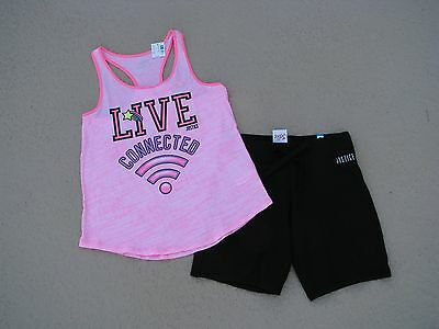 Justice  Nwt Girls Sz 12 Outfit - Tank Top & Knit Bermuda Shorts - So Cute!!