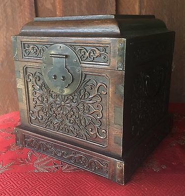 Antique Chinese Detailed Handcrafted Timber Box