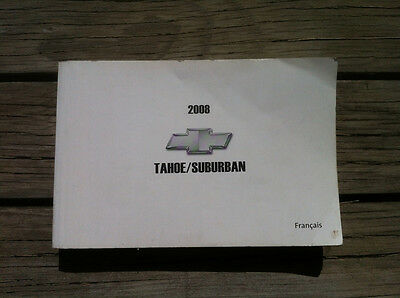 GMC TAHOE/SUBURBAN - 2008 - Owner's Manual - IN FRENCH - XF