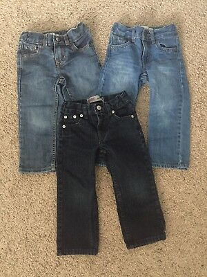 Toddler Boy 2T Jeans Lot Of 3 Levi's