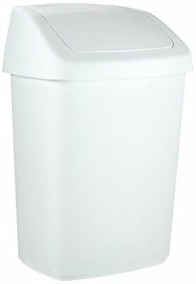 Rubbermaid 8101-386 - Papelera 9 l, color blanco