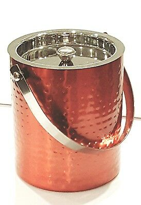 Hammered Copper Finish S/S  Double Wall Ice Bucket