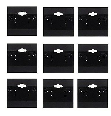 100 PC Black Earring Display Hang Flocked Cards 2 X 2 Inch Jewelry Hanging Card