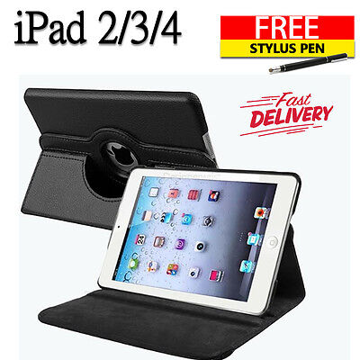 New smart stand leather  case cover for APPLE iPad 2 3 4 (B11