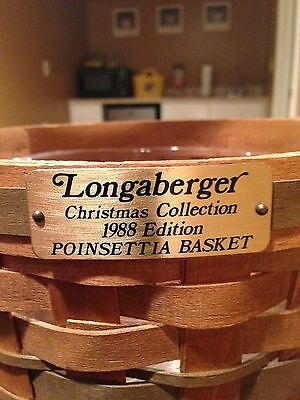 Longaberger Christmas Collection 1988 Poinsettia Basket
