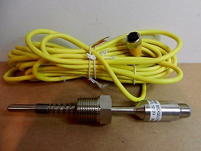 Omega M12KSS-U-0250-SL Spring Loaded K Type Thermocouple Sensor Probe w/ Cable
